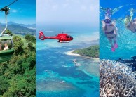 Cairns in a Day Combo - Rainforest Heli Reef