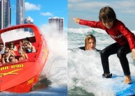Jetboat Extreme & Surf Lesson Combo