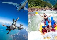 Super Thrills & Spills Combo - Skydive & Tully Raft