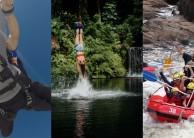 Triple Challenge Combo - Bungy Skydive & Barron Raft