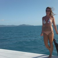 Alex sailing on the Whitsundays