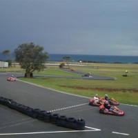 Go Karting at the Philip Island grand prix track in Victoria, 2 hours south of Melbourne