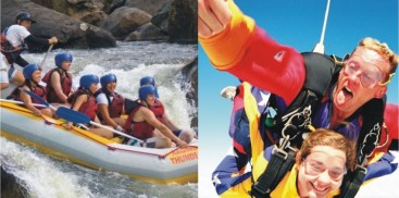 Super Thrills & Spills Combo - Skydive & Tully Raft - Everything Cairns