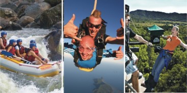 Super Triple Challenge Combo - Bungy Skydive & Tully Raft - Everything Cairns