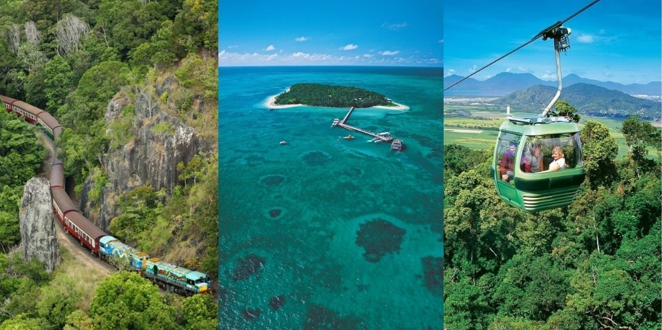 Green Island Combo - Reef Skyrail Kuranda Train
